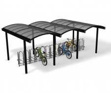 Galleria cycle shelter