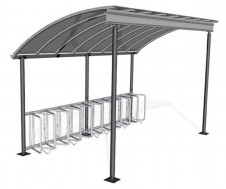 Wing bike cycle shelter