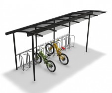 Combi-bike cycle shelter