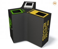 Waste sorting bin CROSS
