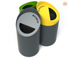 Waste sorting bin TRIPLAY