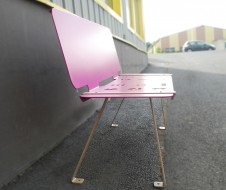 guyon banc metal ludeo mobilier urbain amenagement ecole