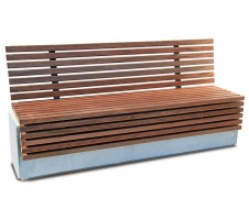 Lithos timber bench