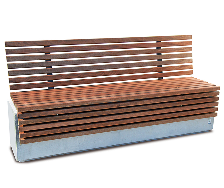 guyon lithos concrete timber bench street furniture