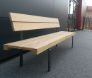 guyon street furniture linea seduta light timber bench