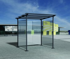 guyon urban furniture metal smoker shelter